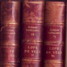 Libros antiguos: LOPE DE VEGA COMEDIAS. COMEDIAS.Y, POESIAS LIRICAS.. Lote 29274339