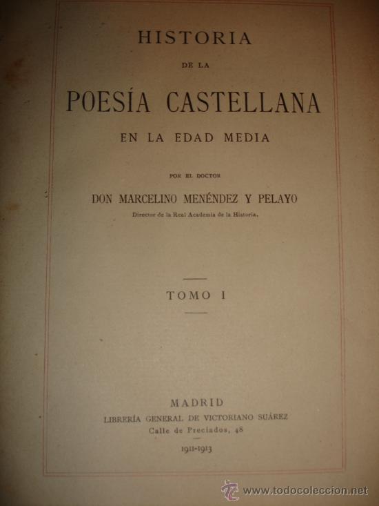 Libros antiguos: OBRA COMPLETA DON MARCELINO MENEDEZ Y PELAYO (14 TOMOS) 1911 Se vende tomos sueltos - Foto 2 - 30566345