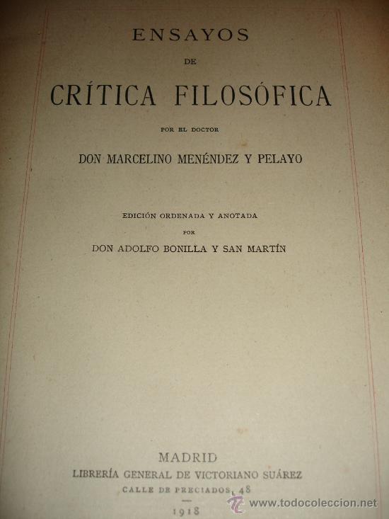 Libros antiguos: OBRA COMPLETA DON MARCELINO MENEDEZ Y PELAYO (14 TOMOS) 1911 Se vende tomos sueltos - Foto 5 - 30566345
