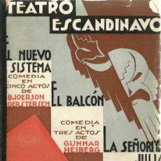 Libros antiguos: TEATRO ESCANDINAVO / PRÓLOGO Y TRADUCCIÓN DE CRISTÓBAL DE CASTRO - 1933. Lote 31765795