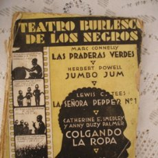 Libros antiguos: CRISTOBAL DE CASTRO, TEATRO BURLESCO DE LOS NEGROS 1932. Lote 32477466