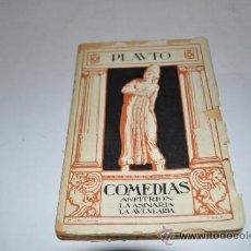Libros antiguos: COMEDIAS: ANFITRIÓN, LA ASINARIA, LA AULARIA PLAUTO RA983. Lote 32032574