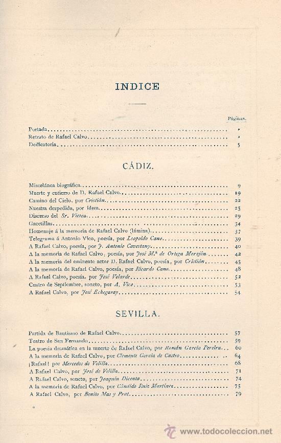 Libros antiguos: VARIOS. Homenaje a Rafael Calvo. Madrid, 1888. Teatro. S5 - Foto 2 - 32205949