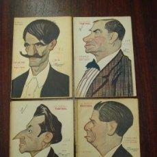 Libros antiguos: 4 LIBRETOS DE OBRAS TEATRALES. 1918-19. CARICATURAS DE TOVAR. Lote 32321004