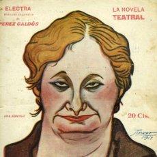 Libros antiguos: BENITO PÉREZ GALDÓS, ELECTRA, MADRID, LA NOVELA TEATRAL Nº 49, 18-11-1917.. Lote 32470711
