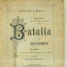 Libros antiguos: FREDERICH SOLER Y HUBERT - PITARRA : BATALLA DE REYNAS (1890) TEATRE CATALÀ. Lote 33962776