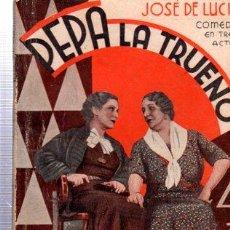 Libros antiguos: REVISTA SEMANAL LA FARSA, AÑO IX, 1935 MADRID, COMEDIA PEPA LA TRUENO Nº 429. Lote 34121191