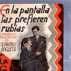 Libros antiguos: REVISTA SEMANAL LA FARSA, AÑO IX, 1935 MADRID, COMEDIA EN LA PANTALLA LAS PREFIEREN RUBIAS Nº 282. Lote 34121307