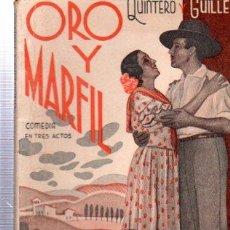 Libros antiguos: REVISTA SEMANAL LA FARSA, AÑO IX, 1935 MADRID, COMEDIA ORO Y MARFIL Nº 398. Lote 34122835