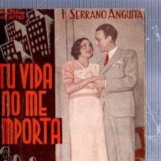 Libros antiguos: REVISTA SEMANAL LA FARSA, AÑO VIII, 1934 MADRID, COMEDIA TU VIDA NO ME IMPORTA Nº 373. Lote 34122849