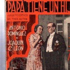 Libros antiguos: REVISTA SEMANAL LA FARSA, AÑO VIII, 1934 MADRID, COMEDIA PAPA TIENE UN HIJO Nº 346. Lote 34122884