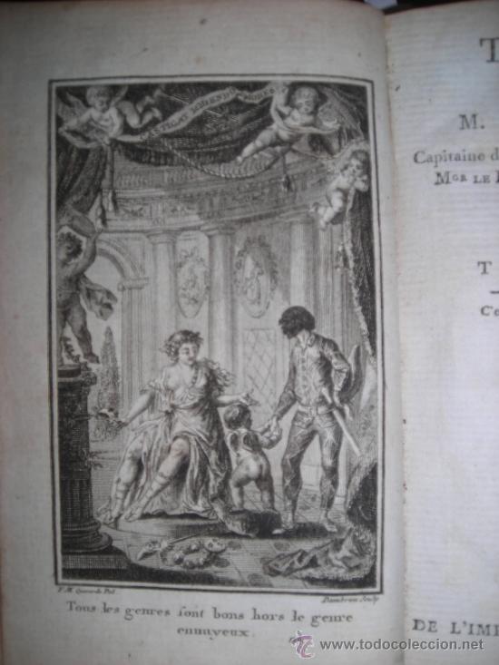 OEUVRES DE M. DE FLORIAN TOMO I, 1786, CONTIENE 1 FRONTISPICIO Y 4 GRABADOS (Libros antiguos (hasta 1936), raros y curiosos - Literatura - Teatro)