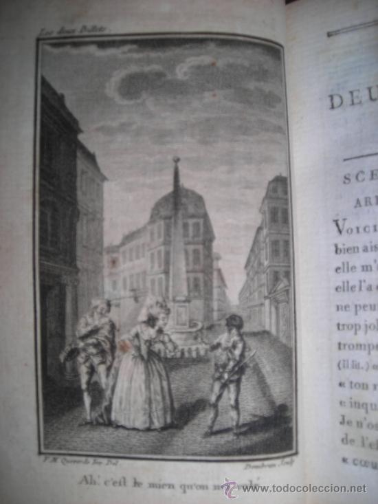Libros antiguos: Oeuvres de M. De Florian Tomo I, 1786, Contiene 1 Frontispicio y 4 grabados - Foto 6 - 34344671