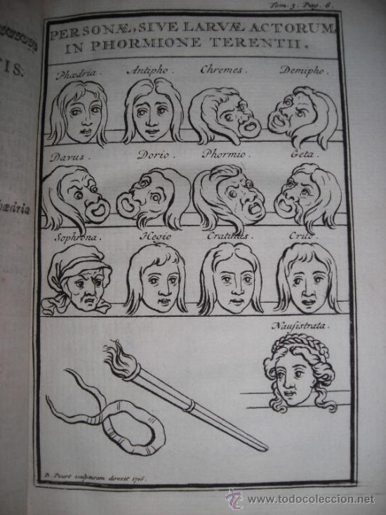 LES COMEDIES DE TERENCE, DACIER, 1747. CONTIENE 10 GRABADOS (Libros antiguos (hasta 1936), raros y curiosos - Literatura - Teatro)