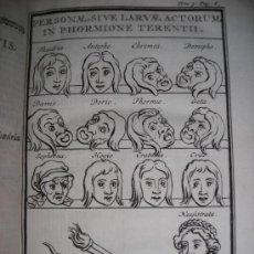 Libros antiguos: LES COMEDIES DE TERENCE, DACIER, 1747. CONTIENE 10 GRABADOS. Lote 34409565