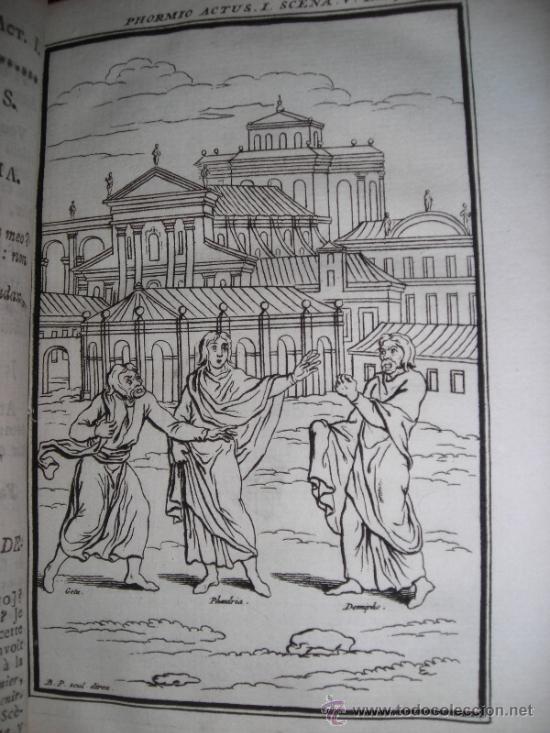 Libros antiguos: Les Comedies de Terence, Dacier, 1747. Contiene 10 grabados - Foto 6 - 34409565
