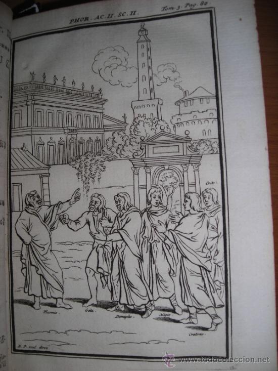 Libros antiguos: Les Comedies de Terence, Dacier, 1747. Contiene 10 grabados - Foto 7 - 34409565