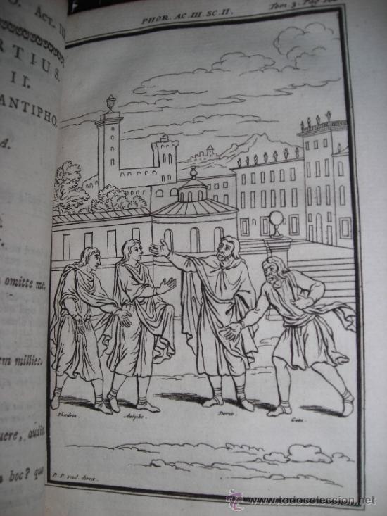 Libros antiguos: Les Comedies de Terence, Dacier, 1747. Contiene 10 grabados - Foto 8 - 34409565