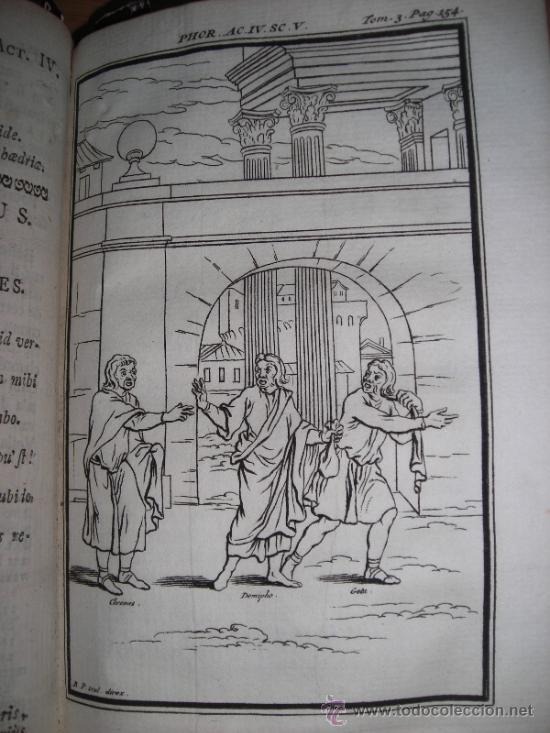 Libros antiguos: Les Comedies de Terence, Dacier, 1747. Contiene 10 grabados - Foto 11 - 34409565