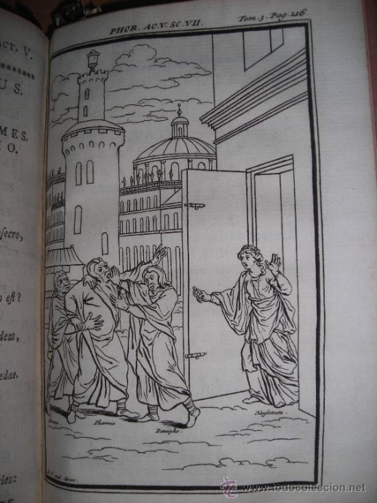 Libros antiguos: Les Comedies de Terence, Dacier, 1747. Contiene 10 grabados - Foto 9 - 34409565