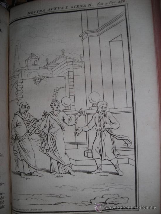 Libros antiguos: Les Comedies de Terence, Dacier, 1747. Contiene 10 grabados - Foto 12 - 34409565