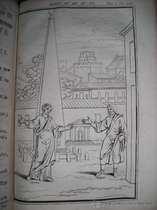 Libros antiguos: Les Comedies de Terence, Dacier, 1747. Contiene 10 grabados - Foto 14 - 34409565
