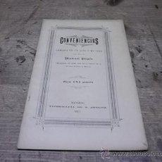 Libros antiguos: 1670.- MANRESA-TEATRE-CONVENIENCIAS COMEDIA EN UN ACTE ORIGINAL DE MANUEL PUGES. Lote 34668979