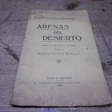 Libros antiguos: 1684.-PALMA DE MALLORCA-TEATRO-ARENAS DEL DESIERTO-JUAN VAZAQUEZ HUMASQUE. Lote 34767457