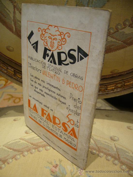 Libros antiguos: SANCHO AVENDAÑO DE MANUEL LINARES RIVAS. LA FARSA Nº 305. 1.933. - Foto 2 - 35099722