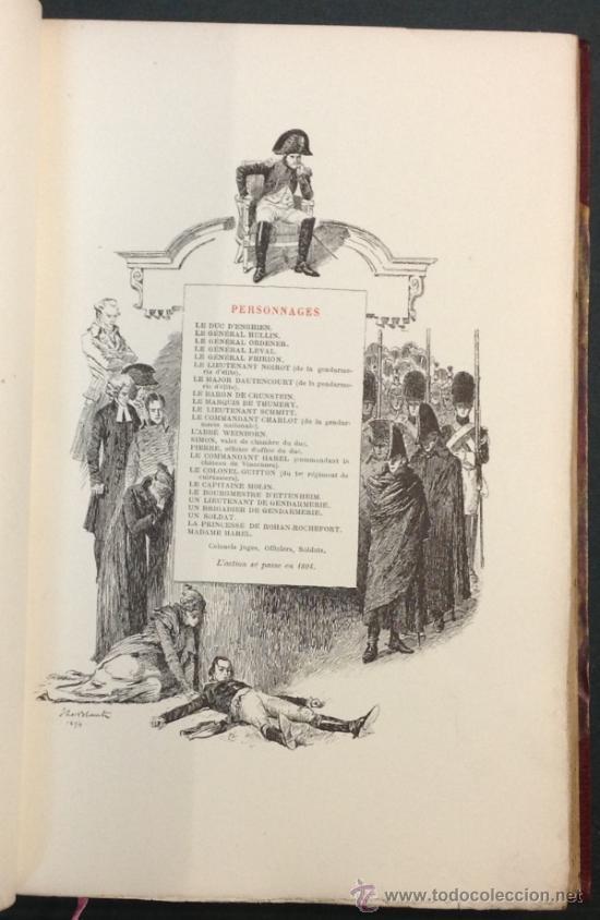 Libros antiguos: LA MORT DU DUC DENGHIEN, PAR LEON HENNIQUE. 1895. VER DESCRIPCION Y FOTOS. VER ENCUADERNACION. - Foto 7 - 35200132