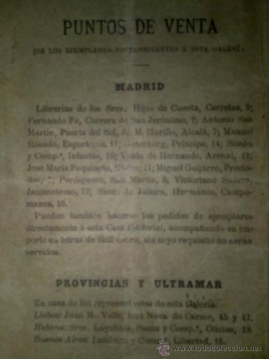 Libros antiguos: RARO LIBRO OBRA DE TEATRO DE LA BIBLIOTECA LIRICO-DRAMATICA Y TEATRO COMICO.AÑO 1897 MADRID ,30 PAGI - Foto 2 - 35451243