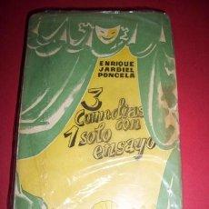 Libros antiguos: JARDIEL PONCELA, ENRIQUE - TRES COMEDIAS CON UN SOLO ENSAYO. Lote 35567034