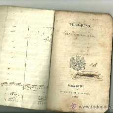 Libros antiguos: 1712.- TEATRO-PLAN.PLAN COMEDIA EN DOS ACTOS-IMPRENTA DE SANCHA MADRID 1838. Lote 35630819