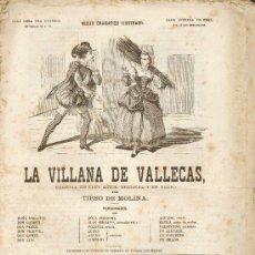 Libros antiguos: SIGLO XIX.CINCO OBRAS DE TEATRO DE TIRSO DE MOLINA:'LA VILLANA DE VALLECAS','DON GIL...','AMAR POR . Lote 36631874