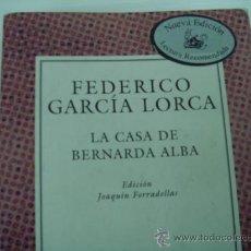 Libros antiguos: LIBRO DE TEATRO DE GARCÍA LORCA