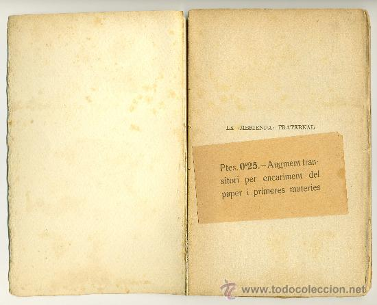 Libros antiguos: LA MERIENDA FRATERNAL - Foto 2 - 38196013