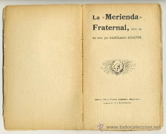 Libros antiguos: LA MERIENDA FRATERNAL - Foto 3 - 38196013