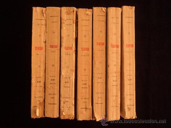 TEATRO. JACINTO BENAVENTE. 7 TOMOS. LIBRERIA SUCESORES DE HERNANDO. 1917 (Libros antiguos (hasta 1936), raros y curiosos - Literatura - Teatro)