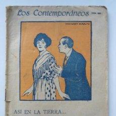 Livres anciens: LOS CONTEMPORANEOS Nº 669 - ASI EN LA TIERRA - FRANCISCO DE VIU - AÑO 1921. Lote 39047043