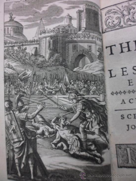 Libros antiguos: Ouvres de Racine (Tomos I y II ). Obra completa. 1728, Jean Racine, Contienen 2 Frontispicios y 13 g - Foto 7 - 39219270