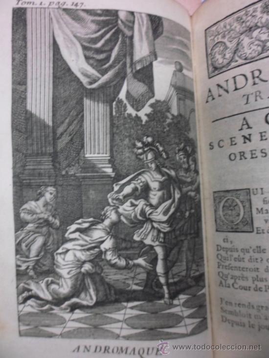 Libros antiguos: Ouvres de Racine (Tomos I y II ). Obra completa. 1728, Jean Racine, Contienen 2 Frontispicios y 13 g - Foto 9 - 39219270
