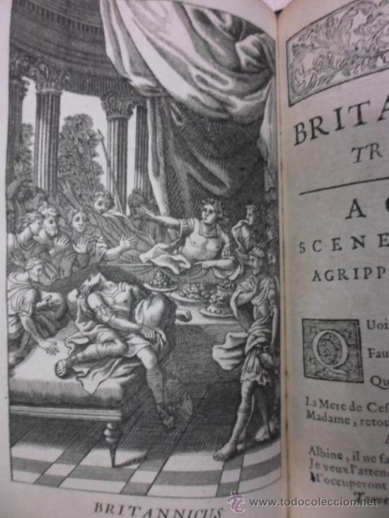 Libros antiguos: Ouvres de Racine (Tomos I y II ). Obra completa. 1728, Jean Racine, Contienen 2 Frontispicios y 13 g - Foto 10 - 39219270