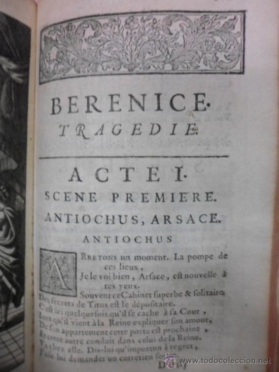 Libros antiguos: Ouvres de Racine (Tomos I y II ). Obra completa. 1728, Jean Racine, Contienen 2 Frontispicios y 13 g - Foto 13 - 39219270