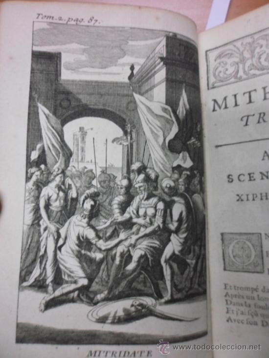 Libros antiguos: Ouvres de Racine (Tomos I y II ). Obra completa. 1728, Jean Racine, Contienen 2 Frontispicios y 13 g - Foto 17 - 39219270