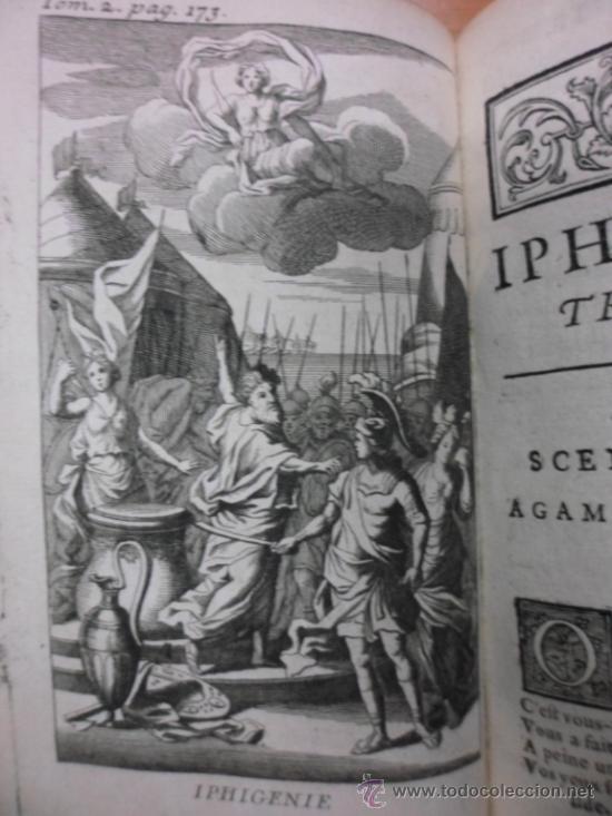 Libros antiguos: Ouvres de Racine (Tomos I y II ). Obra completa. 1728, Jean Racine, Contienen 2 Frontispicios y 13 g - Foto 18 - 39219270