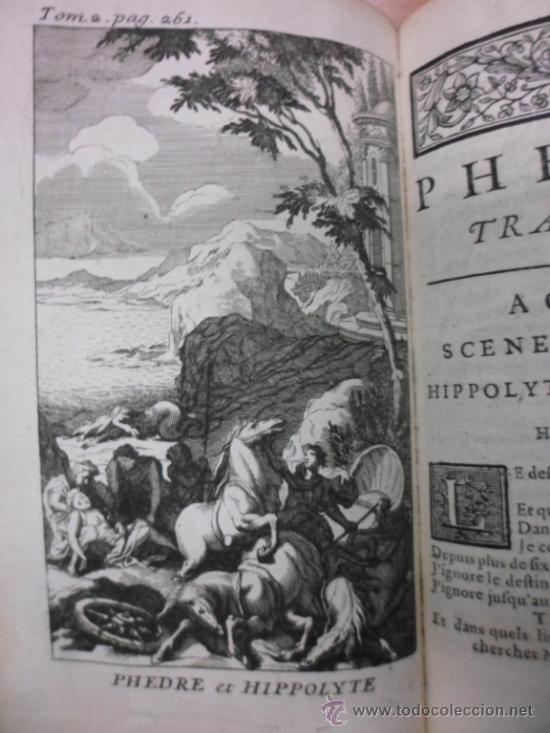 Libros antiguos: Ouvres de Racine (Tomos I y II ). Obra completa. 1728, Jean Racine, Contienen 2 Frontispicios y 13 g - Foto 19 - 39219270