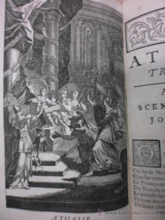 Libros antiguos: Ouvres de Racine (Tomos I y II ). Obra completa. 1728, Jean Racine, Contienen 2 Frontispicios y 13 g - Foto 21 - 39219270