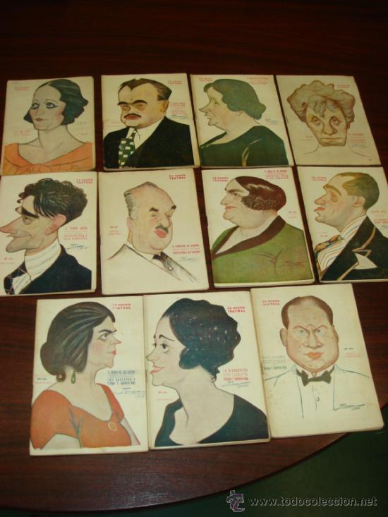 11 LIBRETOS DE OBRAS TEATRALES, 1923, CARICATURAS DE TOVAR. (Libros antiguos (hasta 1936), raros y curiosos - Literatura - Teatro)