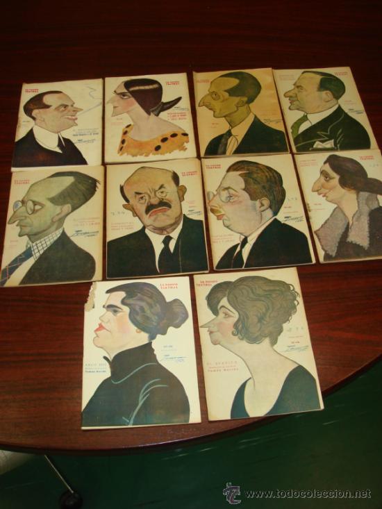 10 LIBRETOS DE OBRAS TEATRALES, 1922-23, CARICATURAS DE TOVAR. (Libros antiguos (hasta 1936), raros y curiosos - Literatura - Teatro)