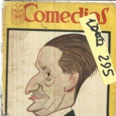 Libros antiguos: COMEDIAS. POR QUÉ SE AMA, BENAVENTE. EL ÁVARO, MOLIERE. TALLERES POLIGRÁFICAS. MADRID. 1929. Lote 39402521
